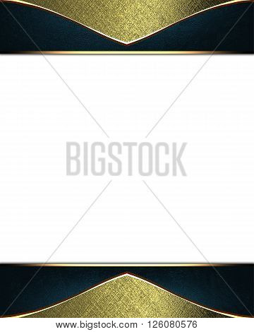 Gold Frame. Template For Design. Copy Space For Ad Brochure Or Announcement Invitation, Abstract Bac