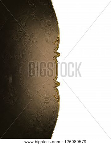 Brown Texture With Cut. Template For Design. Copy Space For Ad Brochure Or Announcement Invitation,
