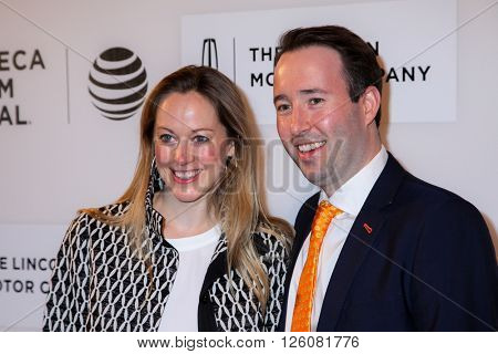 NEW YORK, NY - APRIL 16: Lindsay Schmidt and Edward Shapoff  attend 'Youth In Oregon' Premiere - 2016 Tribeca Film Festival at  BMCC Tribeca Performing Arts Center on April 16, 2016 in New York City