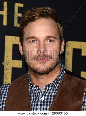 LOS ANGELES - APR 12:  Chris Pratt arrives to the CinemaCon 2016: Sony Pictures Presentation of 2016 Films  on April 12, 2016 in Las Vegas, NV.