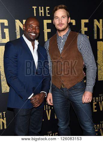 LOS ANGELES - APR 12:  Antoine Fuqua & Chris Pratt arrives to the CinemaCon 2016: Sony Pictures Presentation of 2016 Films  on April 12, 2016 in Las Vegas, NV.
