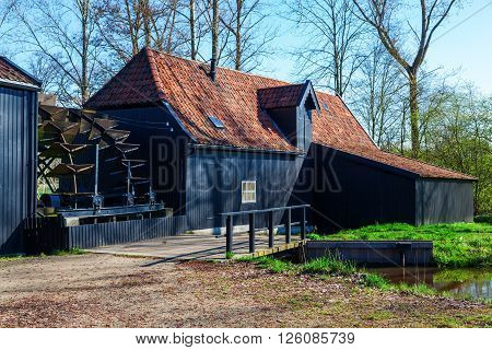 Watermill at Kollen nearby Nuenen The Netherlands where Van Gogh lived he painted also this historic mill