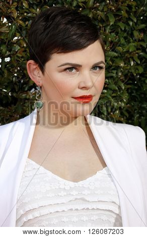 Ginnifer Goodwin at the John Varvatos 13th Annual Stuart House Benefit held at the John Varvatos in West Hollywood, USA on April 17, 2016.
