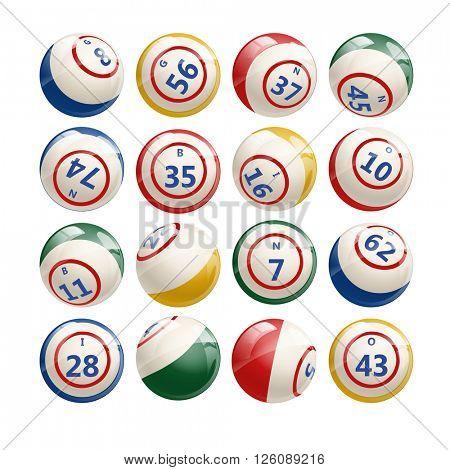 Big Set of Lottery Bingo Keno Billiard Balls