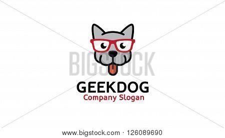 Geek Dog Creative And Symbolic Logo Design Illustration