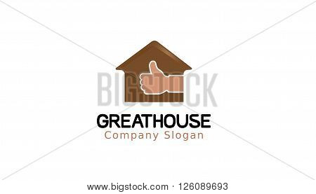 Great House Creative And Symbolic Logo Design Illustration