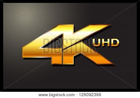 4k sign label emblem logo tv ulta hd