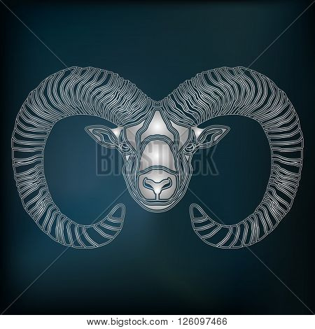 Silver Ram zodiac Aries sign for astrological predestination and horoscope