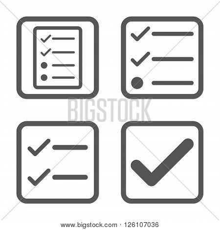 Valid vector icon. Image style is a flat icon symbol inside a square rounded frame, gray color, white background.