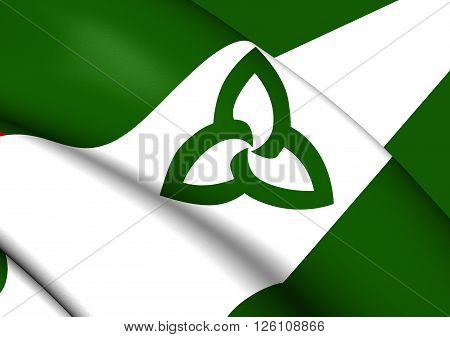 Flag Of Ontario (green Ensign), Canada.