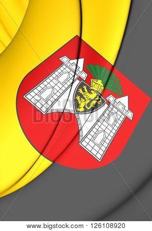 Flag Of Plauen (saxony), Germany.