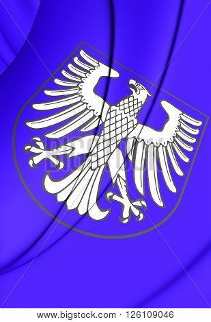 Flag Of Schweinfurt (bavaria), Germany.