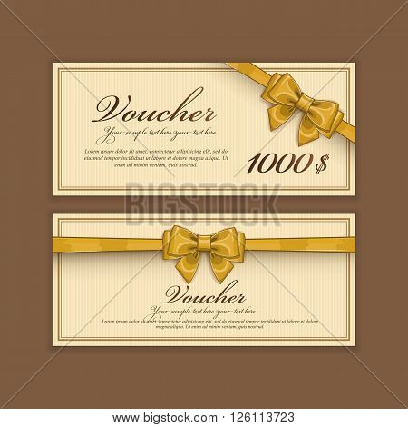 Gift voucher template discount vector photo bigstock gift voucher template discount voucher gift certificate two side of gift voucher gift coupon template vector voucher template voucher design yadclub Gallery