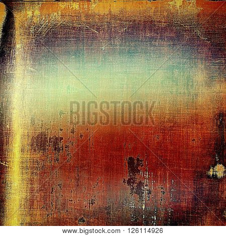 Vintage retro frame or background, old school textured backdrop. With different color patterns: yellow (beige); brown; red (orange); blue; purple (violet)