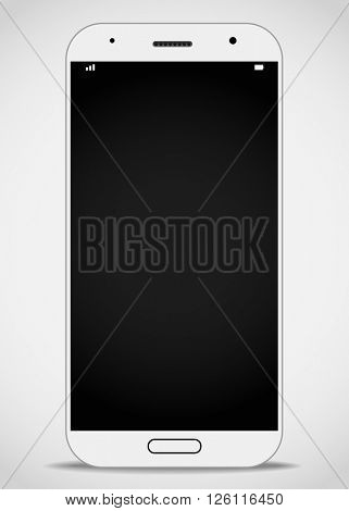 Modern smartphone mockup. Vector layout