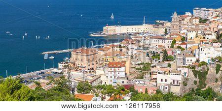 Gaeta In Summertime, Italy. Panoramic Photo