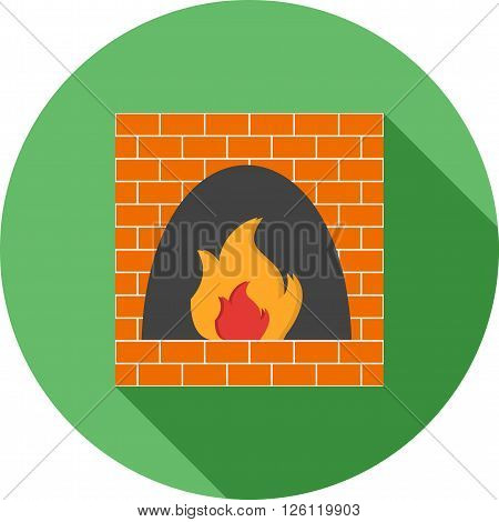 Fire, oven, wood icon vector image. Can also be used for bakery. Suitable for use on web apps, mobile apps and print media