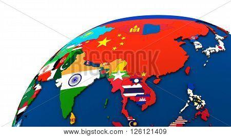 Political Asia Map