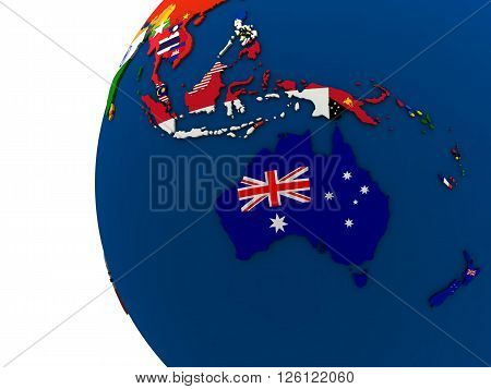 Political Australasia Map