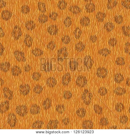 Seamless animal fur pattern. Leopard orange background for fashion design.