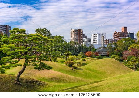 Kumamoto, Japan at Suizenji Garden in the autumn.