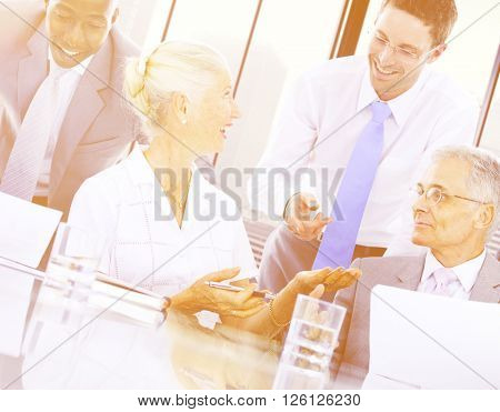Group Business People Discussion Meeting Concept