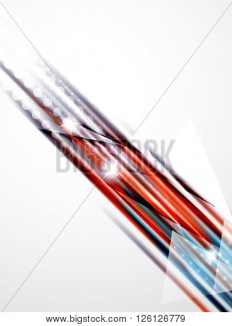 Shiny straight lines abstract background. Glossy multicolored stripes