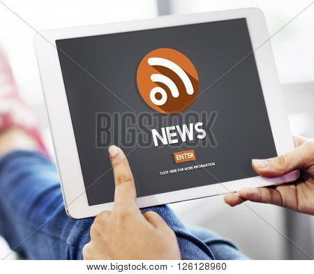 News Breaking Broadcast Information Media Feed Concept