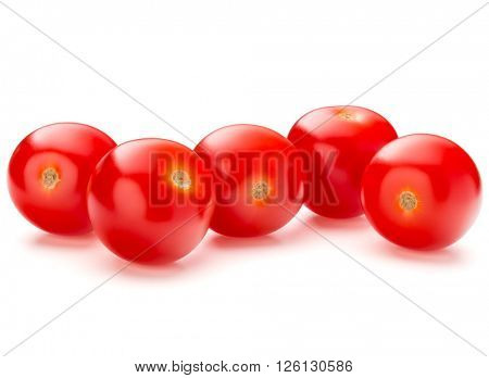 fresh cherry tomato isolated on white background cutout
