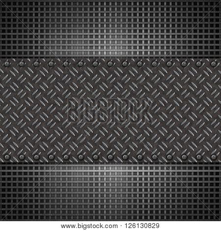 Abstract background with metal plate texture