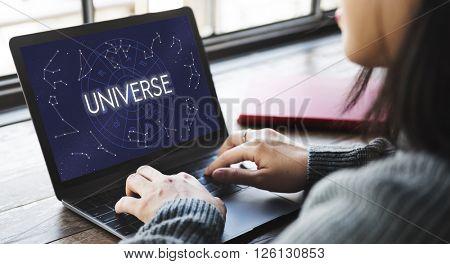Universe Abstract Bang Galaxy Infinity Science Concept