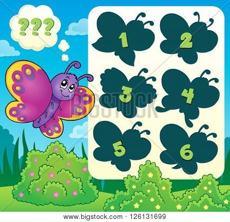 Butterfly riddle theme image 2 - eps10 vector illustration.