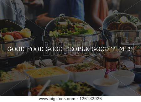 Good Food People Times Eating Nutrition Organic Concept