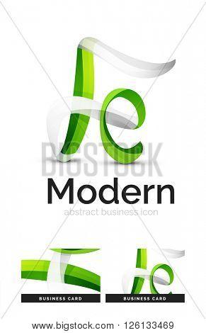 Ribbon swirl business vector logo
