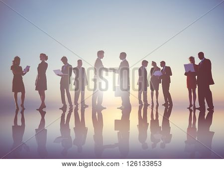 Business People New York Outdoor Meeting Concept