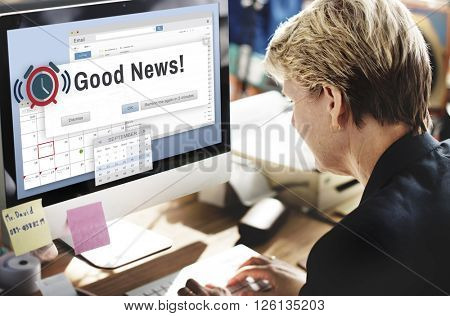 Good News Information Announcement Thinking Concept