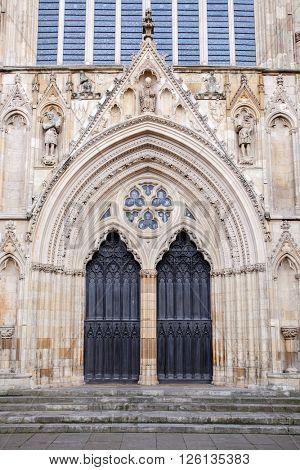 Architecture of York Minster England UK