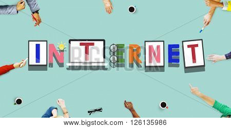 Internet Web Online Technology Word Style Concept