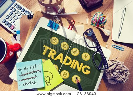 Trading Trade Stock Exchange Market Investment Concept