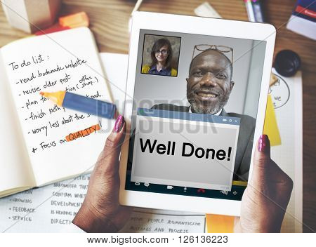 Well Done Award Awesome Best Successful Positive Concept