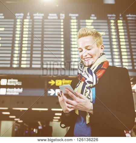Businesswoman Lifestyle Commuter Connection Concept