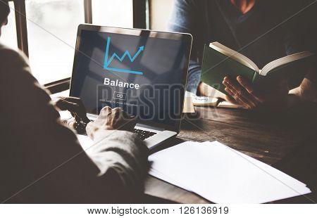 Banking Balance Internet Concept