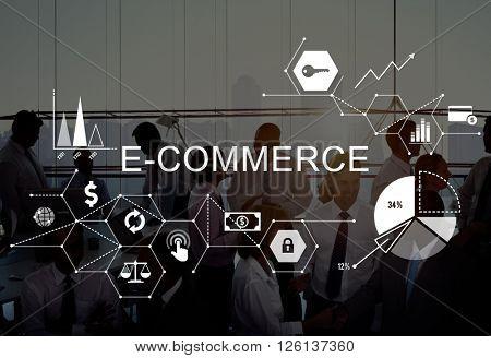 E-commerce Global Business Digital Marketing Concept