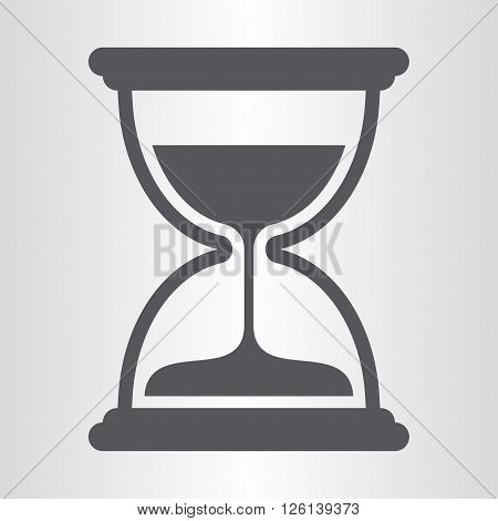 Hourglass, a mechanical device used to measure the passage of time.
