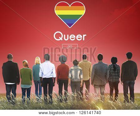 Queer LGBT Lesbian Gay Bisexual Transgender Concept