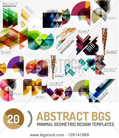 Collection of geometric vector backgrounds
