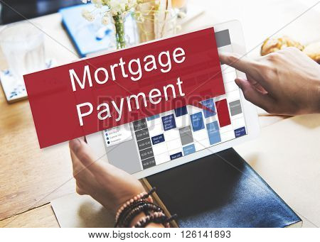 Mortgage Payment Financial Banking Investment Concept