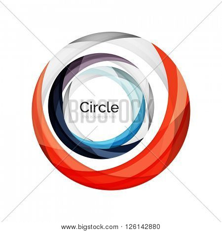 Vector color swirl shape icon or abstract background
