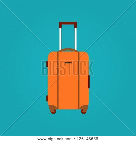 Travel bag vector illustration. Travel bag isolated icon. Travel bag  summer symbol. Travel bag for traveling design. Summer time vacation travel bag isolated icon