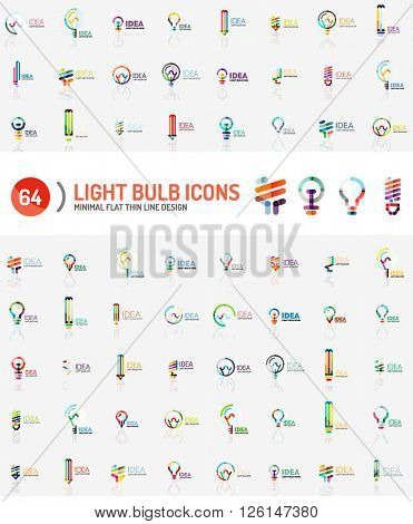 Mega collection of light bulb logos